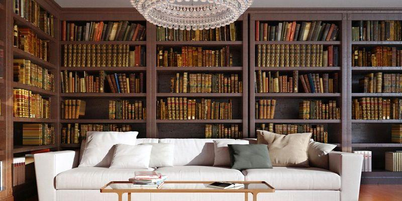 Klassische private Bibliothek auch Hausbibliothek genannt ...