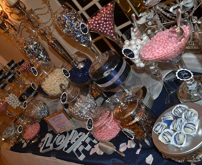 Strange Wedding Candy Buffet Pink And Navy Blue Candy Bars Pink Home Interior And Landscaping Ologienasavecom