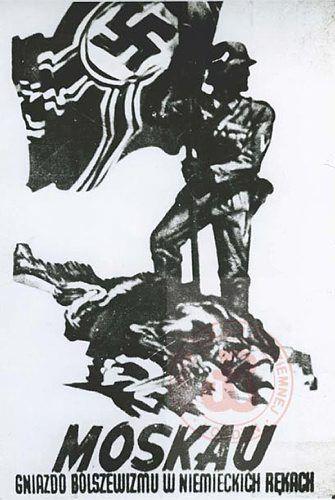 Niemiecki Plakat Propagandowy Moskau Gniazdo Bolszewizmu