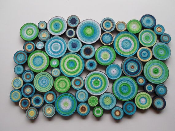 Modern wall decor Blue green wall hanging Trendy home Bedroom ...