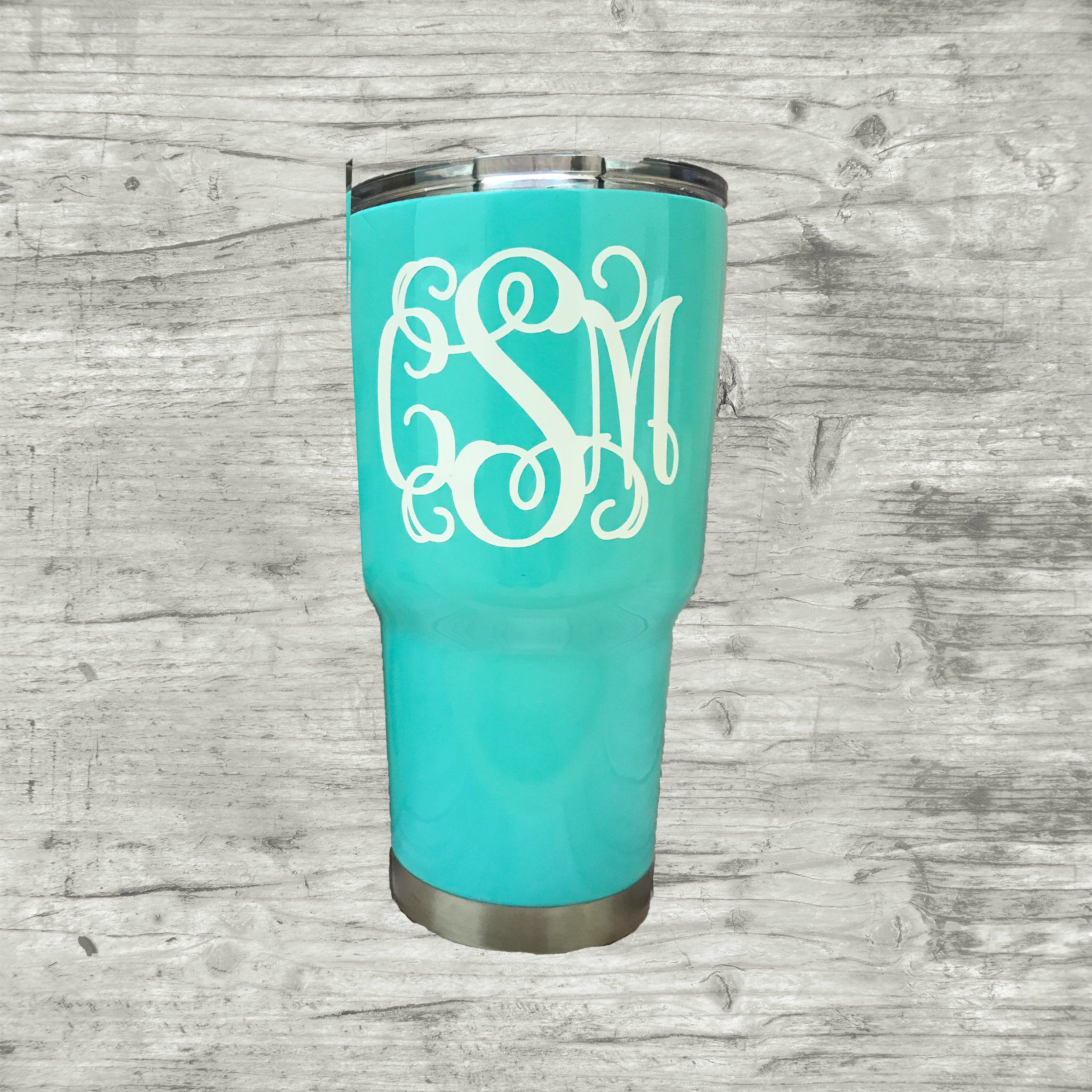 f2d9a9d1d7c Monogrammed Stainless Steel Tumbler, Monogrammed Stainless Steel Cup, Monogrammed  tumbler, Mint RTIC tumbler, Personalized Cup Gift by BluegrassFarmsBtq on  ...