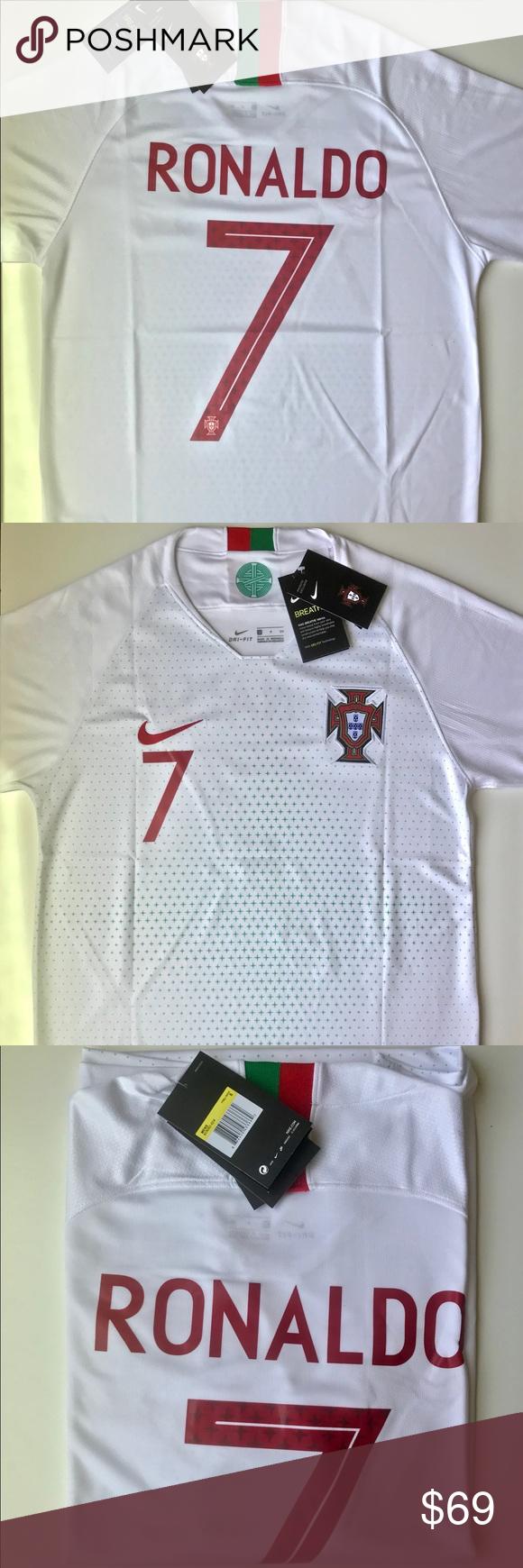 New Ronaldo Portugal Nike Soccer World Cup Jersey 2018 World Cup Portugal National Team Nike Ronaldo 7 White Away S Nike Soccer World Cup Jerseys Soccer World