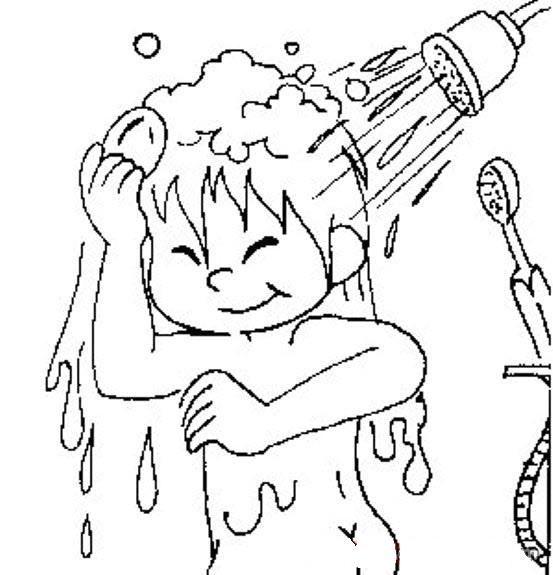 Banyo Yapma Boyama Sayfasi Goruntuler Ile Banyo Yapma Boyama