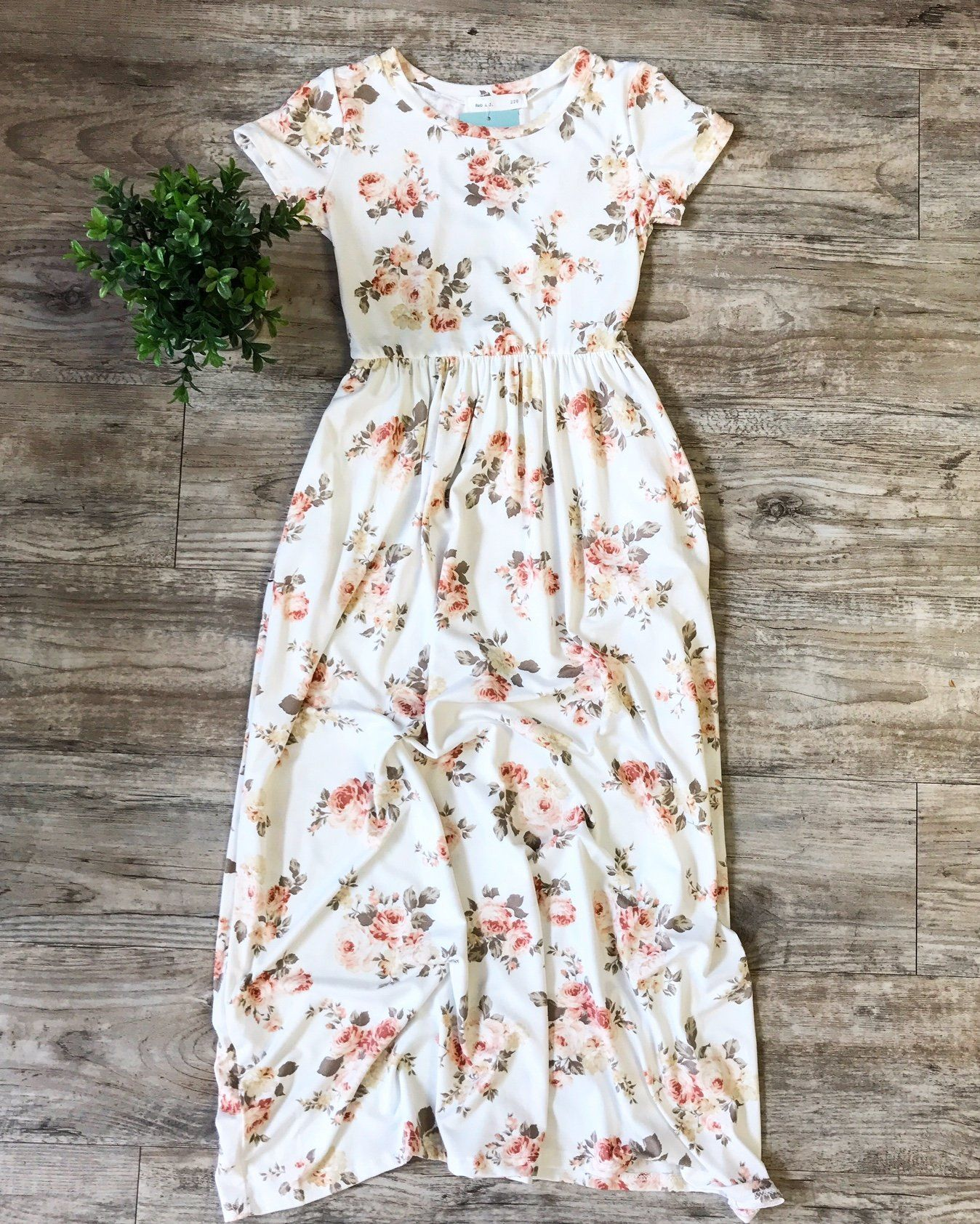 Kids ivory floral maxi wpockets products pinterest floral