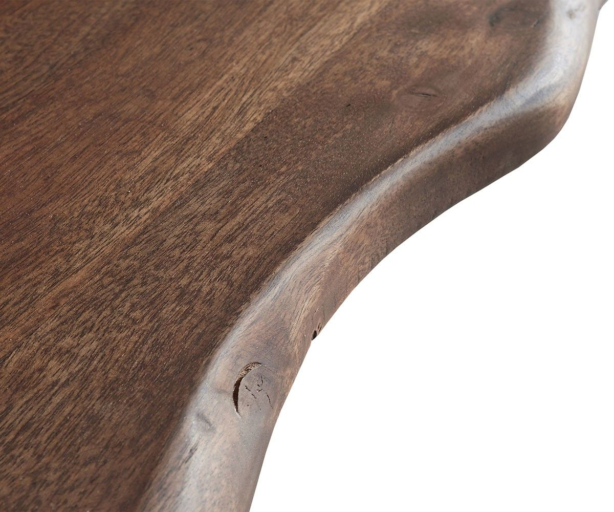 Baumtisch Live Edge 200x100 Akazie Braun Platte 5 5cm Gestell Schrag Oak Furniture Decor Oak