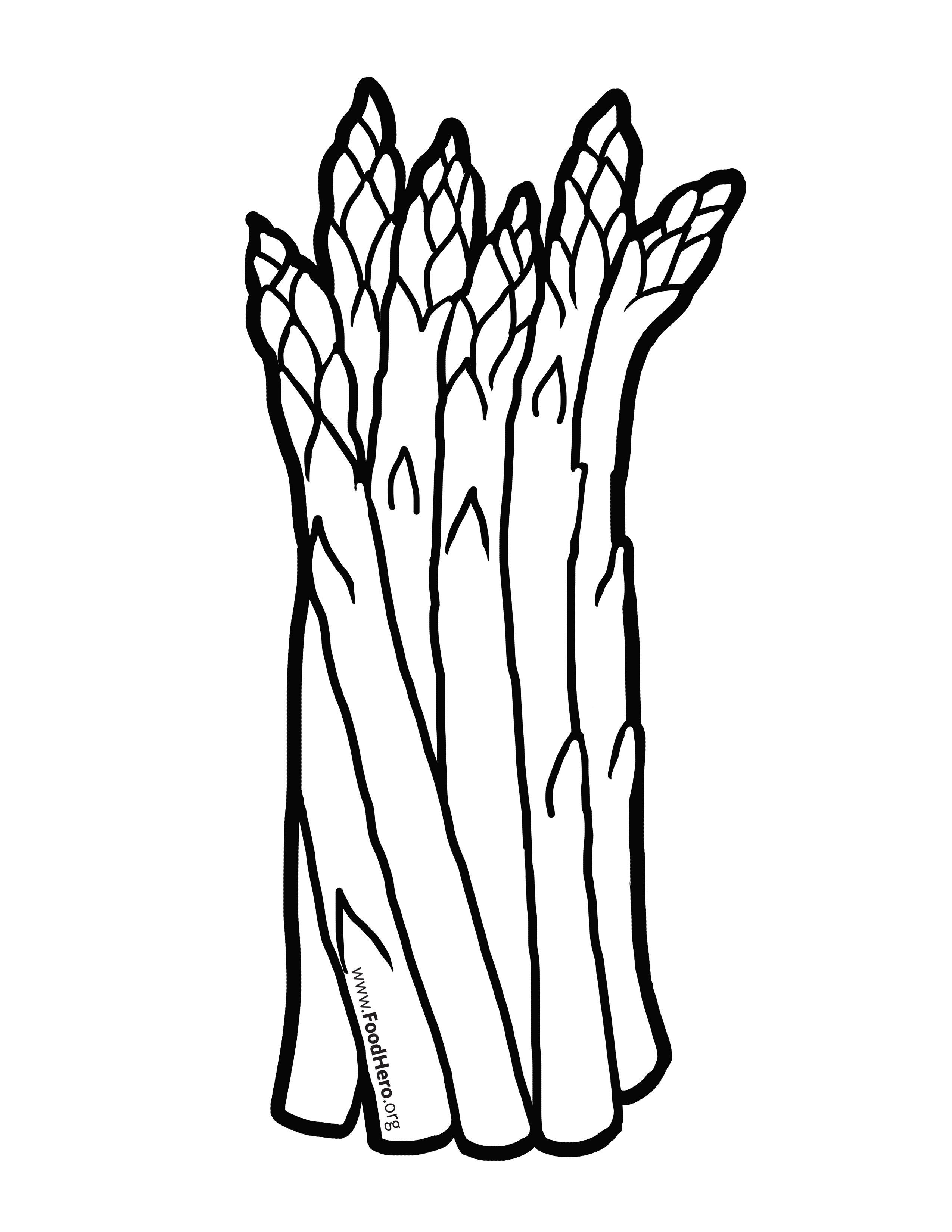 Asparagus Illustration Foodhero Bullentinboards Artwork