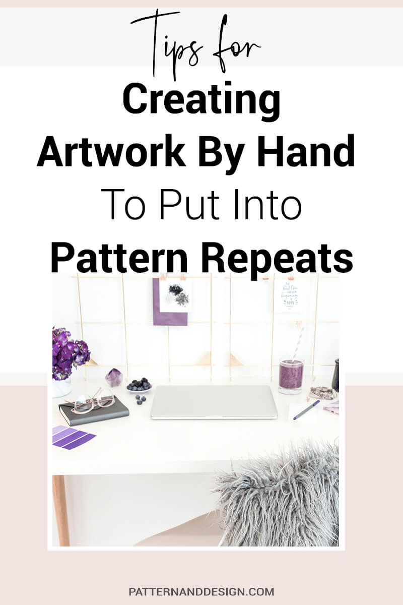 Learn the steps to creating surface pattern repeats by hand #surfacepatterndesign