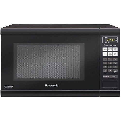 Microwave Oven Premium Compact Countertop Panasonic Electric Stainless Steel Black Turntable 1200 Countertop