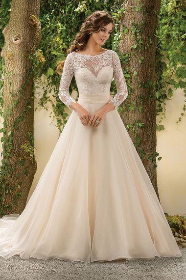 Jasmine Collection, Style F181005 The 25 Most-Pinned Wedding Dresses of 2015  #vestidodenovia | #trajesdenovio | vestidos de novia para gorditas | vestidos de novia cortos  http://amzn.to/29aGZWo
