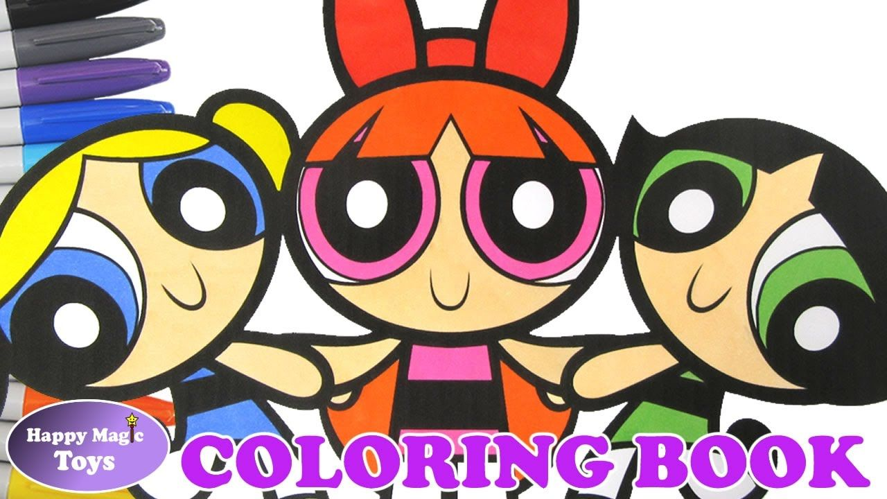 the powerpuff girls holding hands coloring book buttercup bubbles