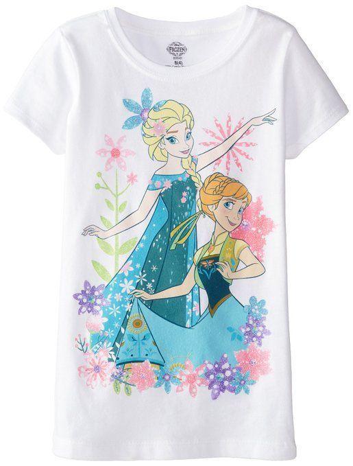 Disney Frozen Elsa and Anna Girl/'s Short Sleeve Shirt