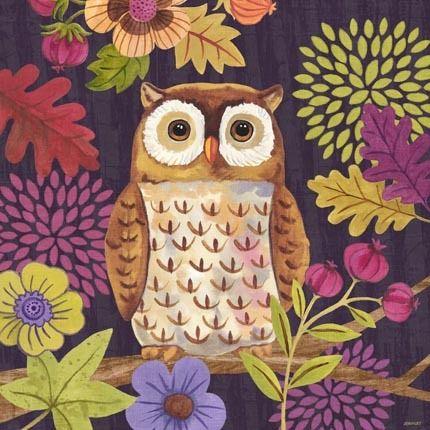 Autumn Woodland Owl By Jennifer Brinley Con Imagenes Buhos