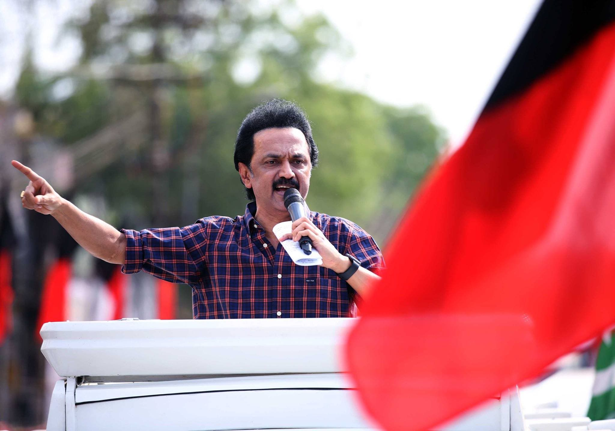 M. K. Stalin, he is an Indian Politician from Tamil Nadu