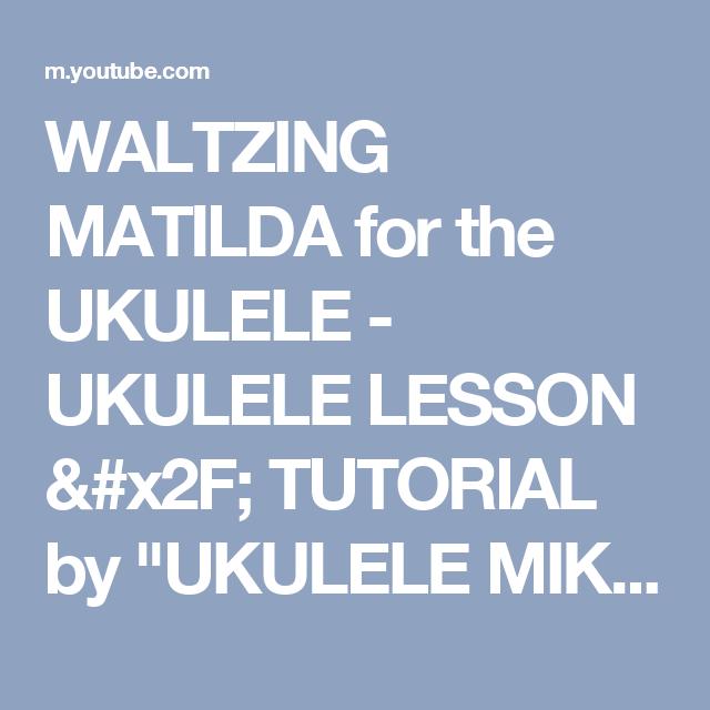 Enchanting Waltzing Matilda Chords Ukulele Ideas - Beginner Guitar ...
