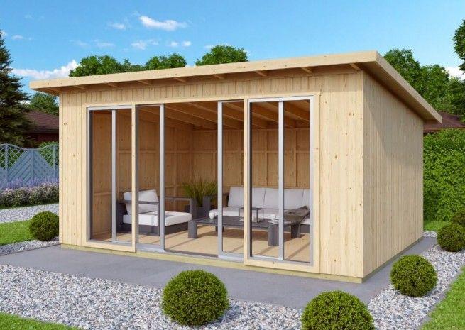 Gartenhaus Johanna mit Schiebetür (mit Bildern