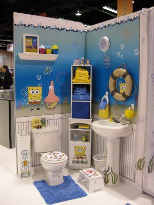 Bathroom Spongebob Accessories Cheerful Impression With Decor