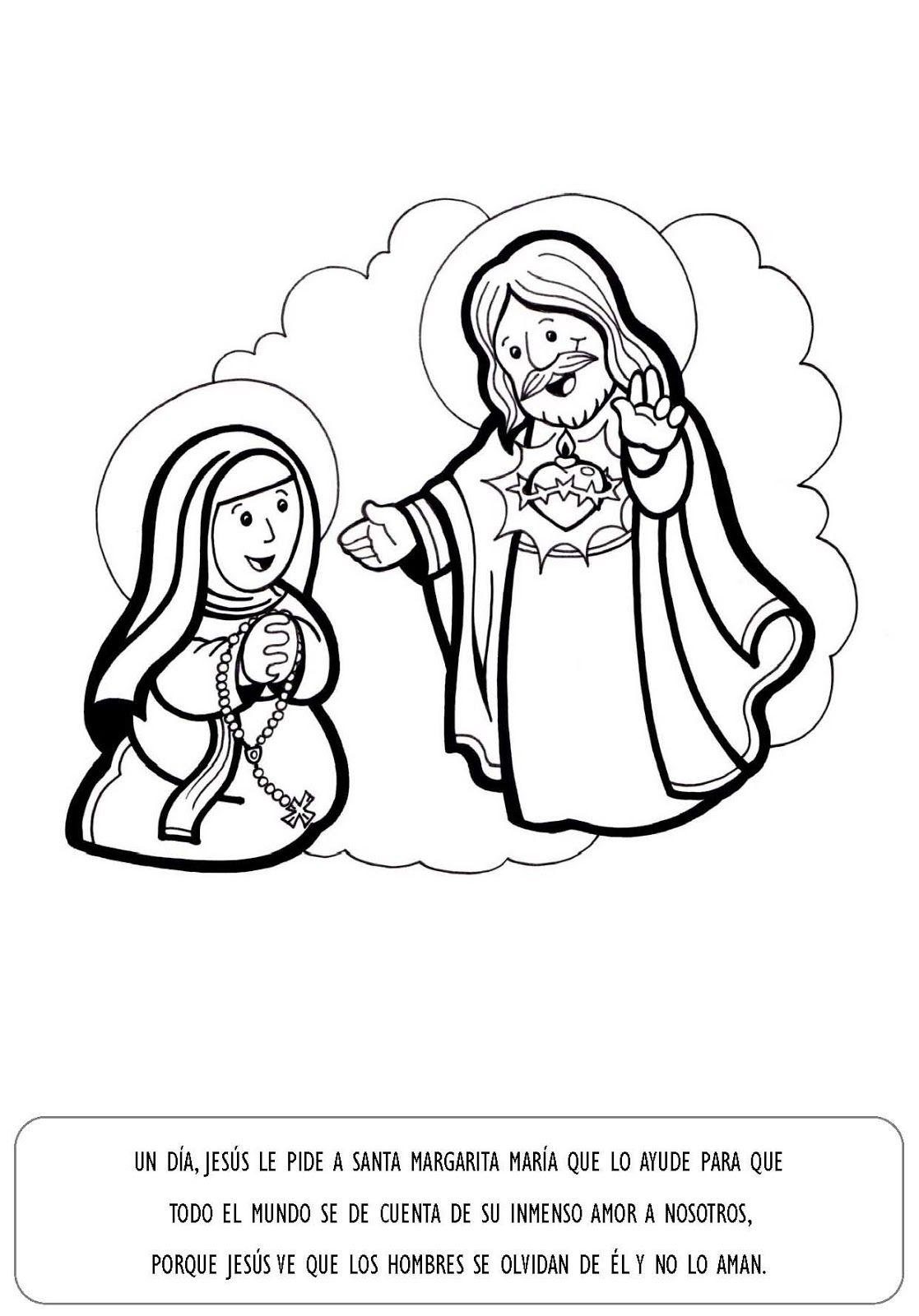 La Catequesis Explicacion Con Imagenes Para Ninos Sagrado Corazon De Jesus E Inmaculado Cor Sagrado Corazon De Jesus Corazon De Jesus Dia Del Sagrado Corazon