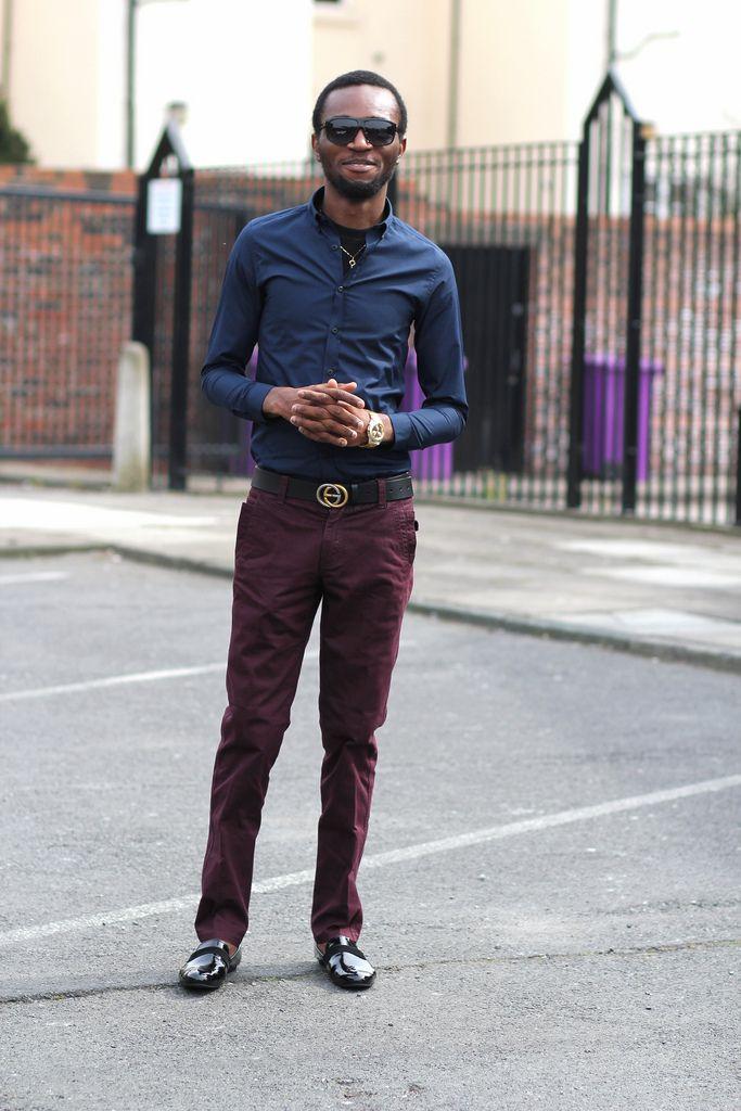 pants men, Burgundy pants outfit