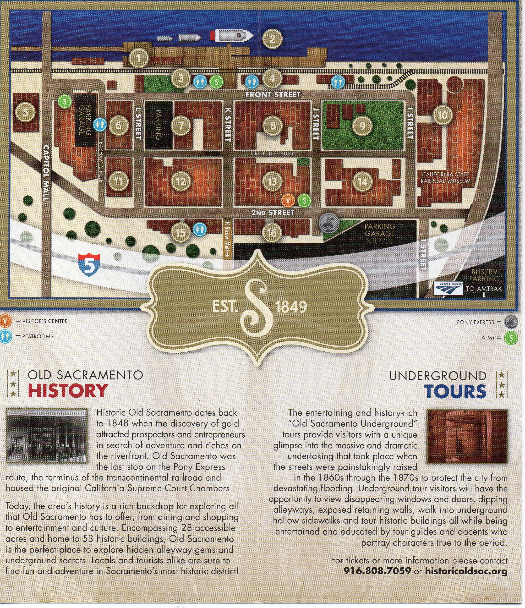 Old Sacramento Brochure and Map Old Sacramento State Park Pinterest
