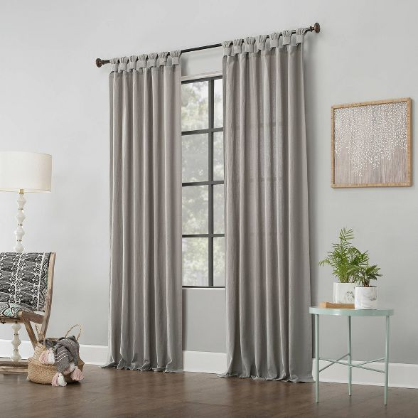 95 X52 Washed Cotton Twist Tab Light Filtering Curtain Panel Cream Archaeo In 2020 Curtains Panel Curtains