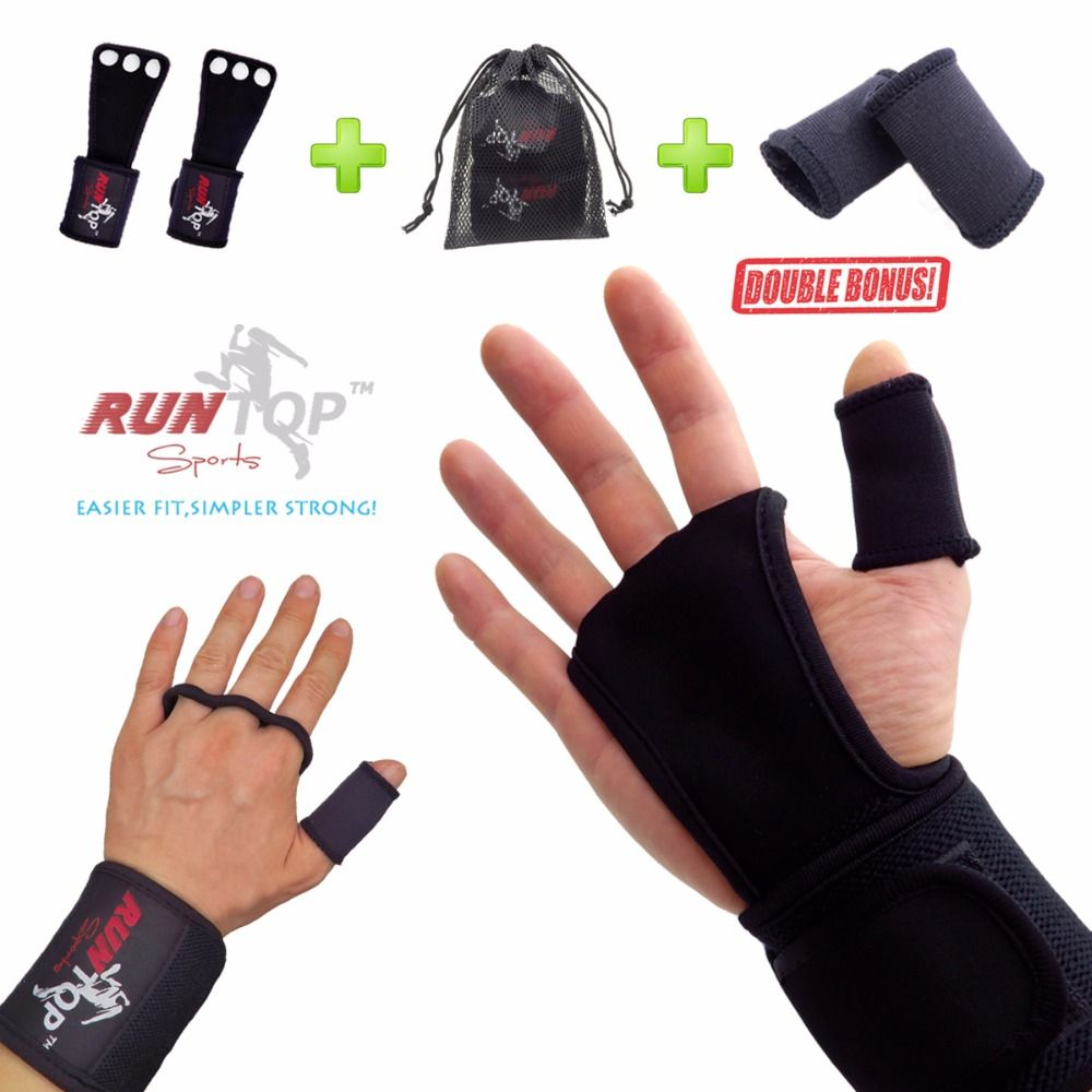 Wrist Wraps Weight Lifting Training Gym Straps Support Grip Gloves Protection