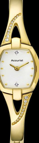 Accurist Ladies Gold Plated Crystal set Watch Accurist Ladies Watch, Mother of Pearl Crystal Dots Dial with Date Window, Crystal set Bezel, Gold Plated Case and Bracelet, Quartz Movement, Water Resistant up to 100 Metres http://www.comparestoreprices.co.uk/ladies-watches/accurist-ladies-gold-plated-crystal-set-watch.asp