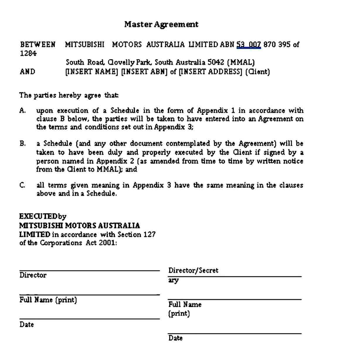 Vehicle Lease Agreement Sample Template Lease Agreement Lease Agreement