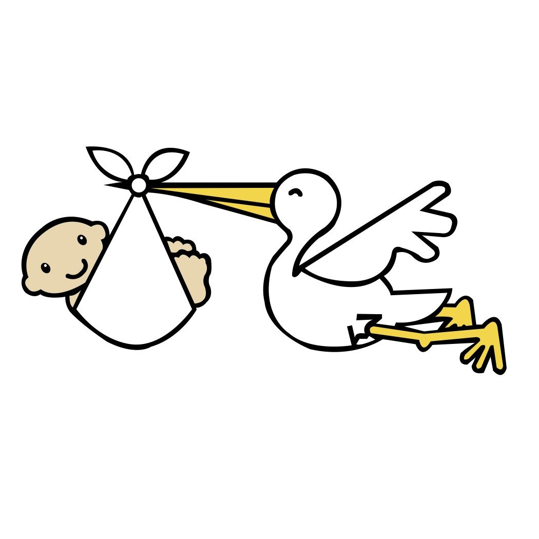 Free Svg File Stork And Baby Scal Mtc Beaoriginal
