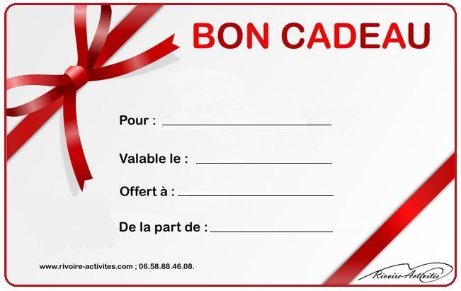 carte bon cadeau à imprimer gratuit Résultat de recherche d'images pour