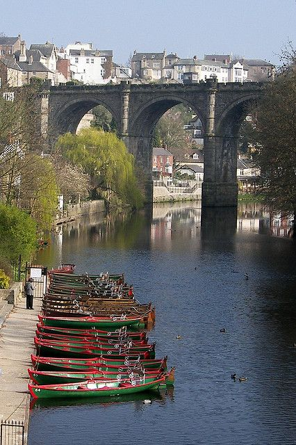 River Nidd & Knaresborough Railway Bridge in Yorkshire, North Yorkshire | England