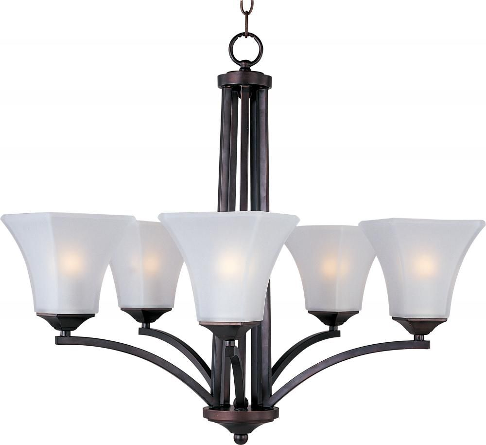 Five Light Oil Rubbed Bronze Frosted Glass Up Chandelier 20095ftoi Oil Rubbed Bronze Chandelier Bronze Chandelier Chandelier Ceiling Lights