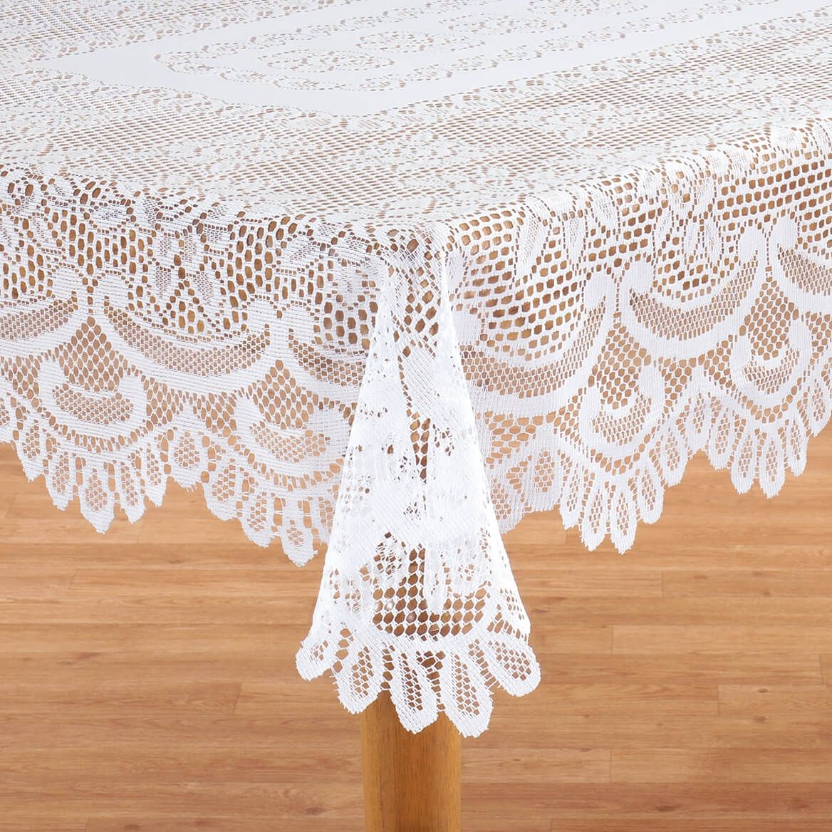 White Rose Lace Tablecloth In 2020 Lace Table Rose Lace White