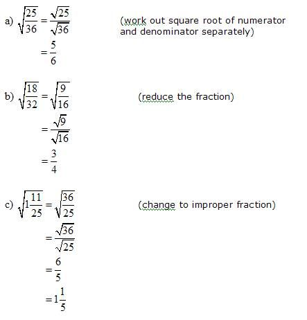 Simplify square roots that have fractions ✏ | Miss Rusk's Math ...