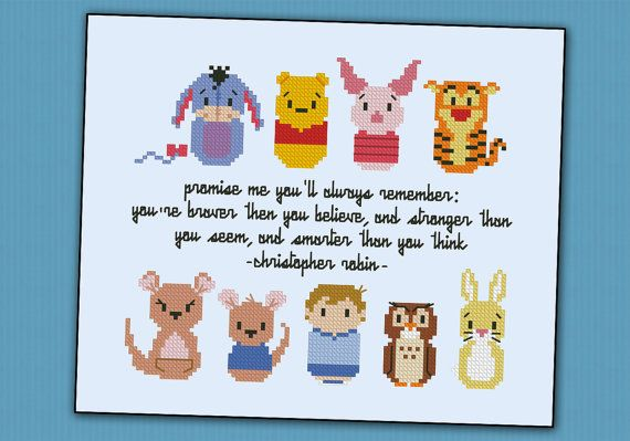 Winnie the Pooh parody (extended vesion) - Cross stitch PDF pattern