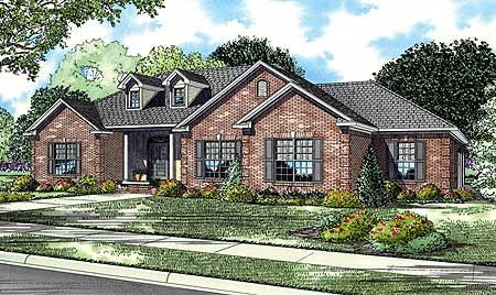 Plan 59891ND Charming Home Plan with Columns and Dormers Columns