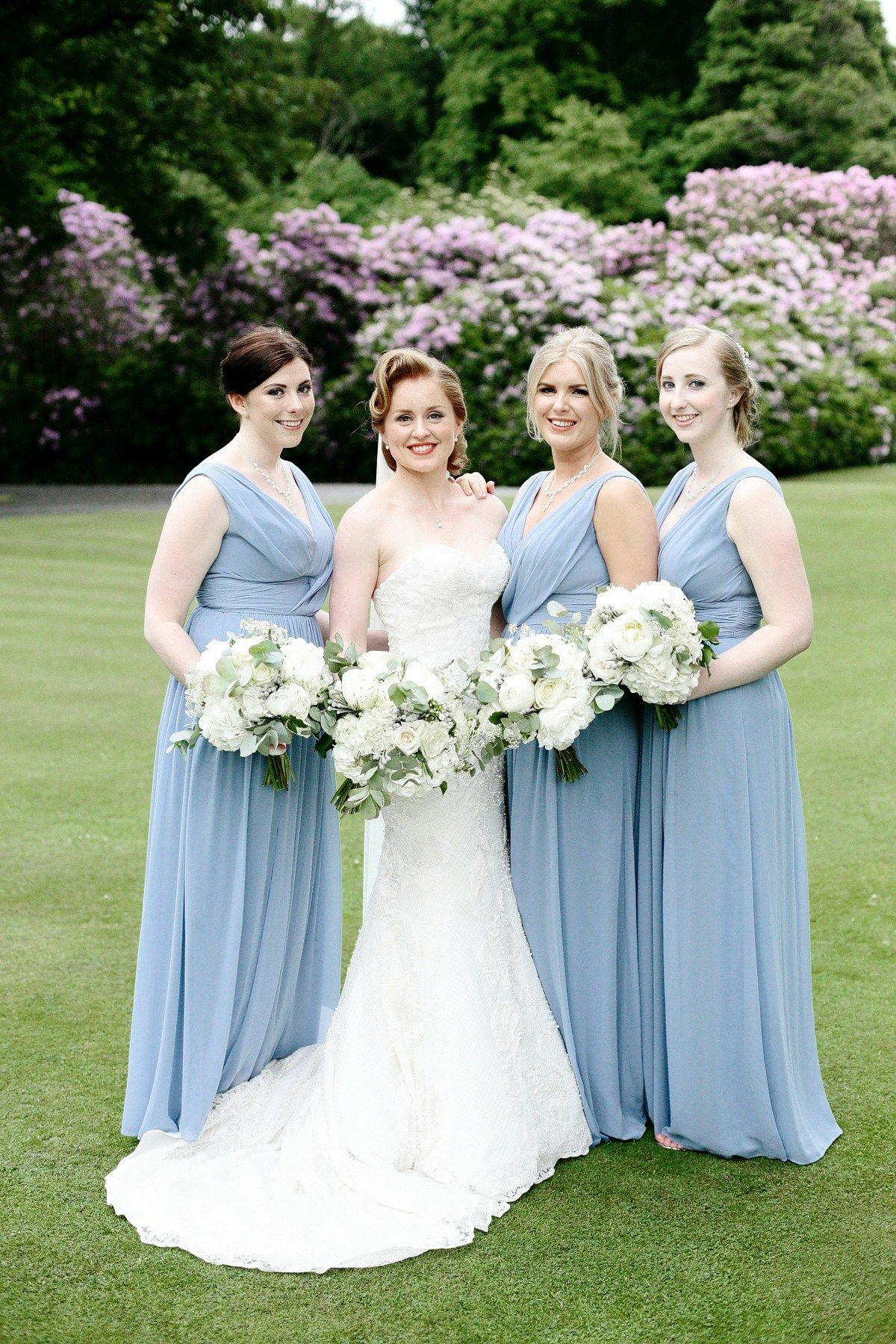 A Watters Gown for a Walled Garden and Old Hollywood Glamour ...