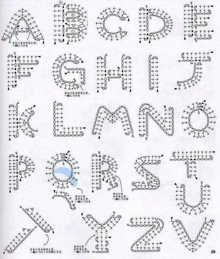 Letras | disgrsmsd | Pinterest | Letras, Tejido facil y Contornos