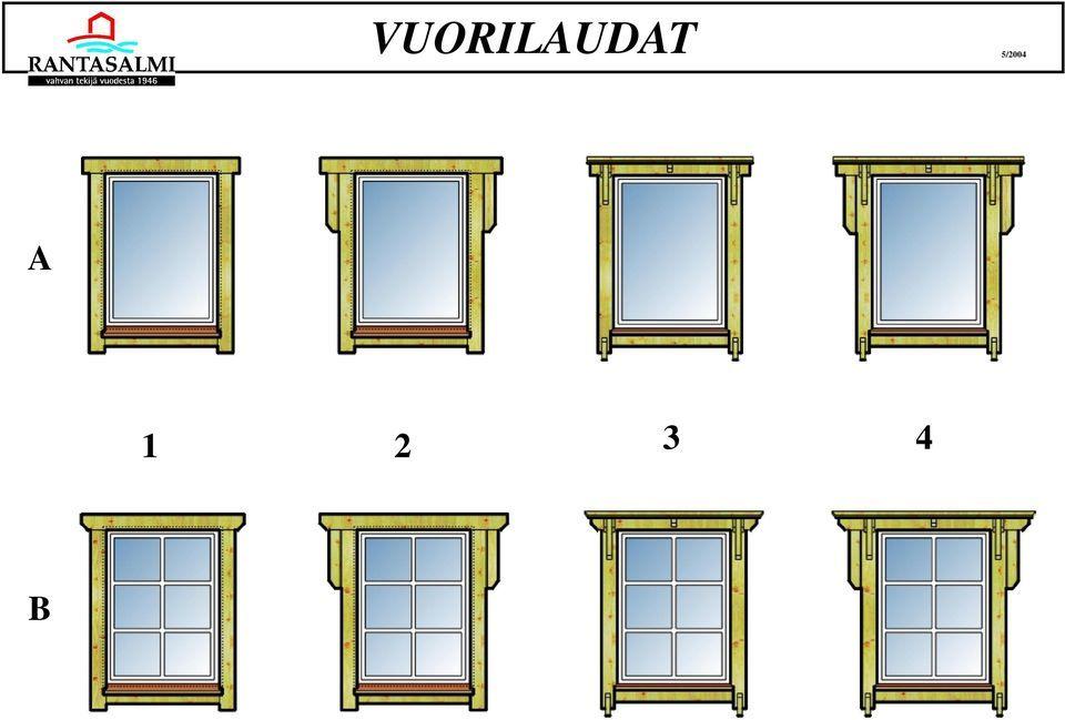 Ikkunan Vuorilaudat Mallit