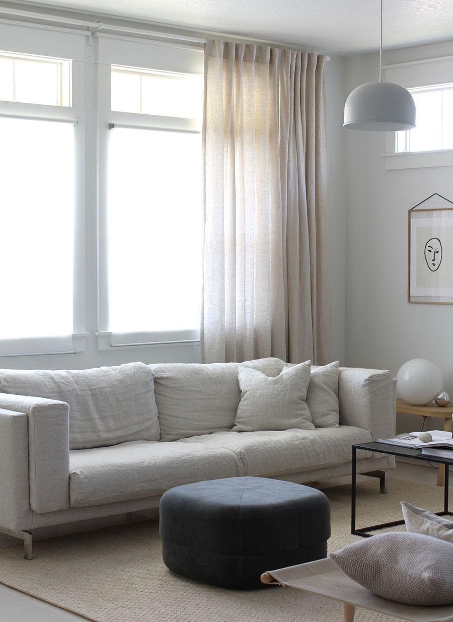 Minimal Scandinavia Living Room Styling By A Merry Mishap | IKEA Nockeby  Sofa With A Bemz