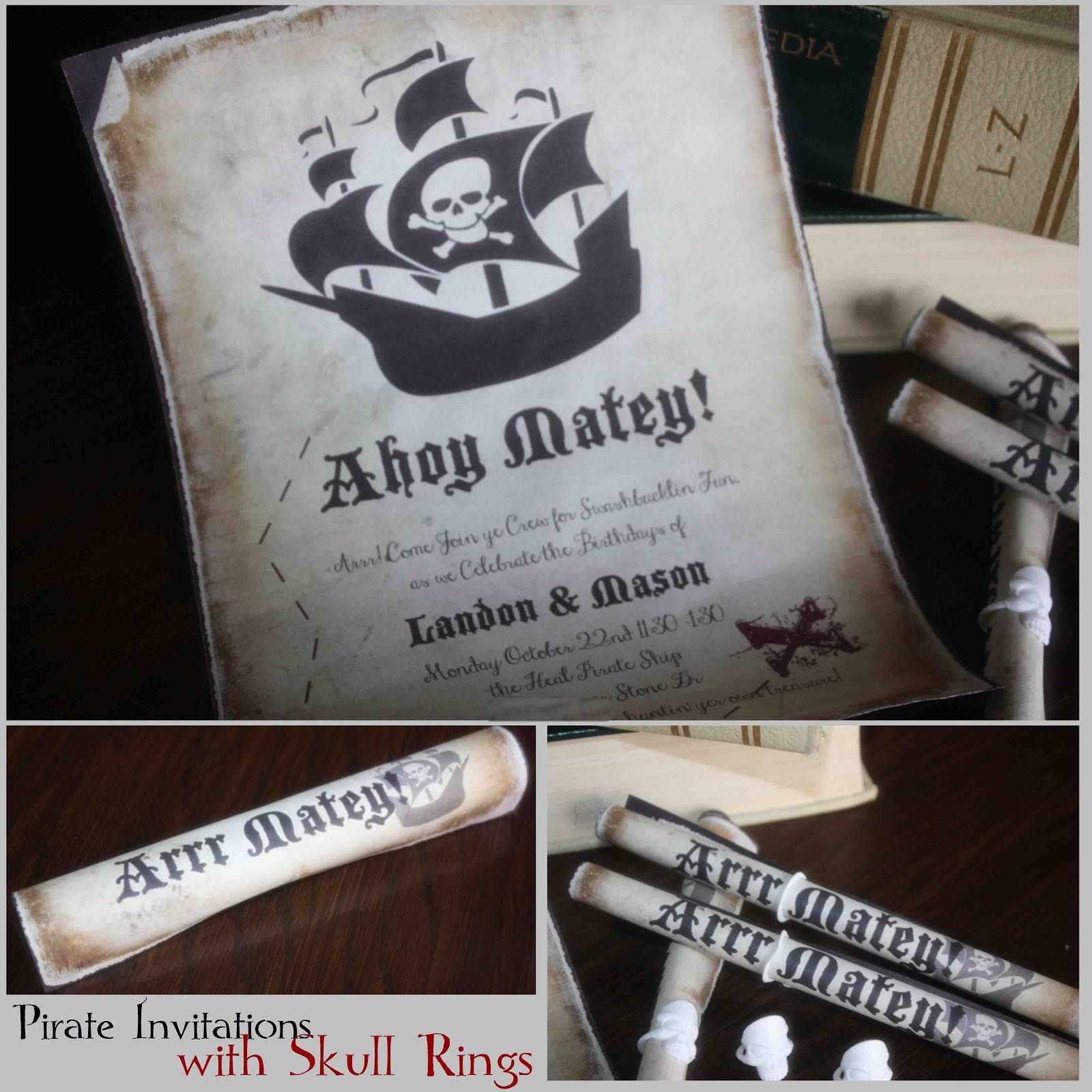 Pirate Party Invitations Printable Free Partytjies Pinterest