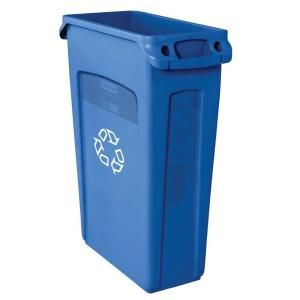 Home Depot Recycling Bins Rubbermaid Commercial Products Slim Jim 23 Galblue Recycling