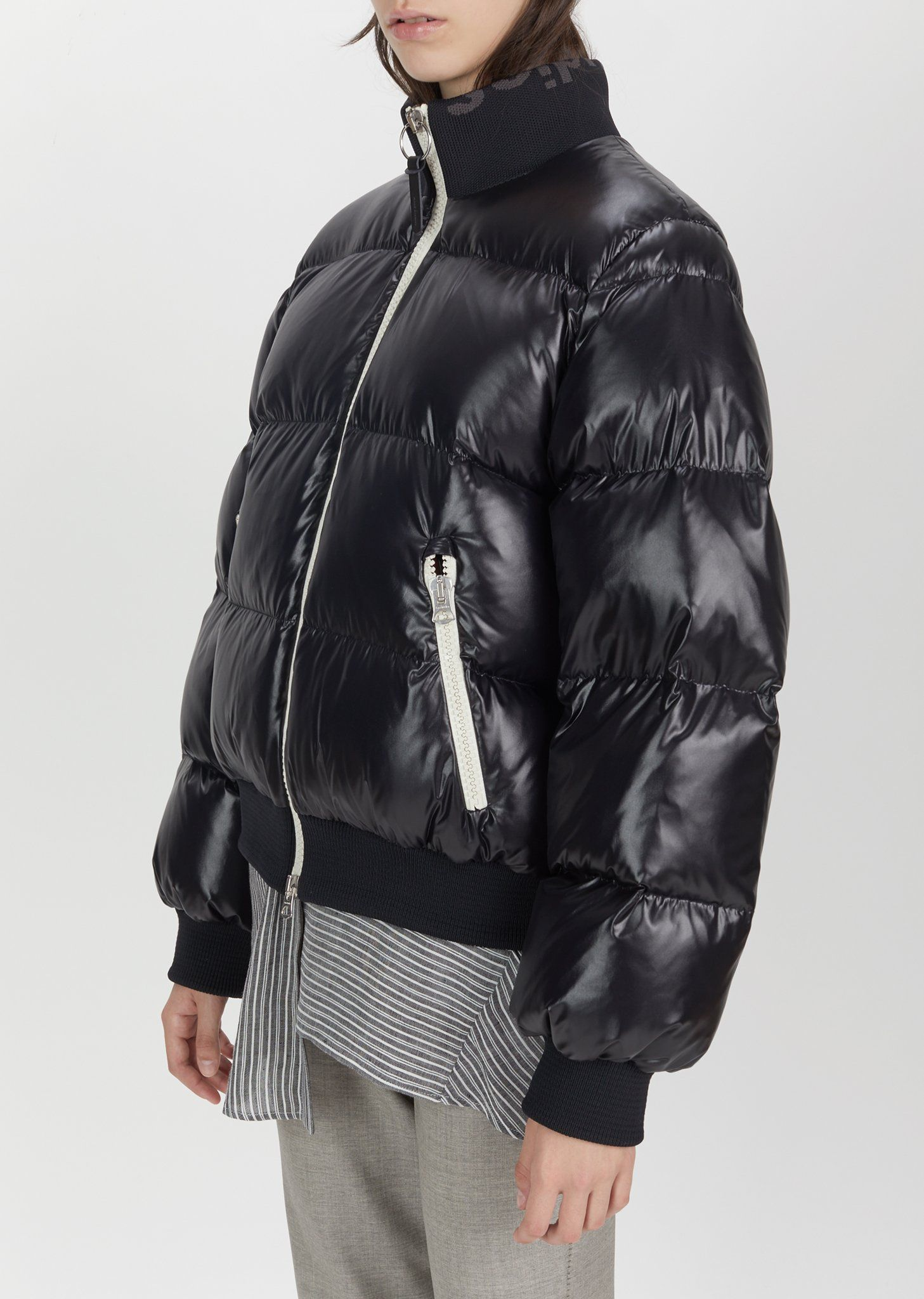 Cilla Puffer Bomber Jacket By Acne Studios La Garconne Jackets Short Puffer Jacket Quilted Bomber [ 2048 x 1457 Pixel ]