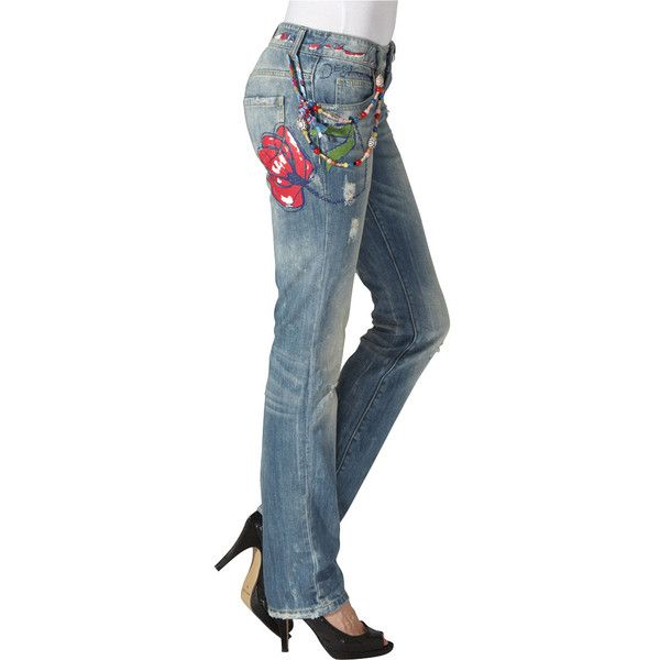 DESIGUAL Jeans Straight Leg ❤ liked on Polyvore