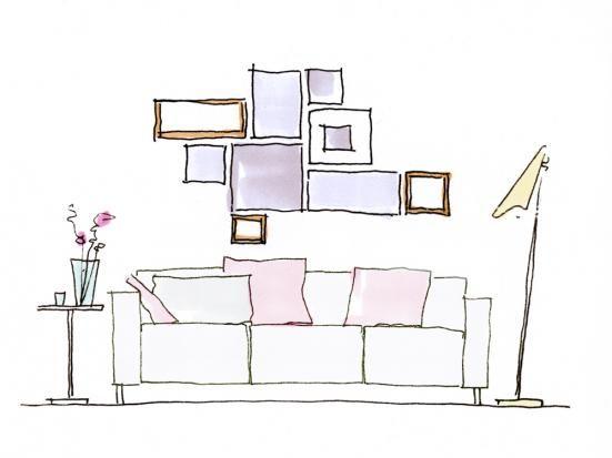 bilder richtig aufh ngen decoration interiors and flats. Black Bedroom Furniture Sets. Home Design Ideas