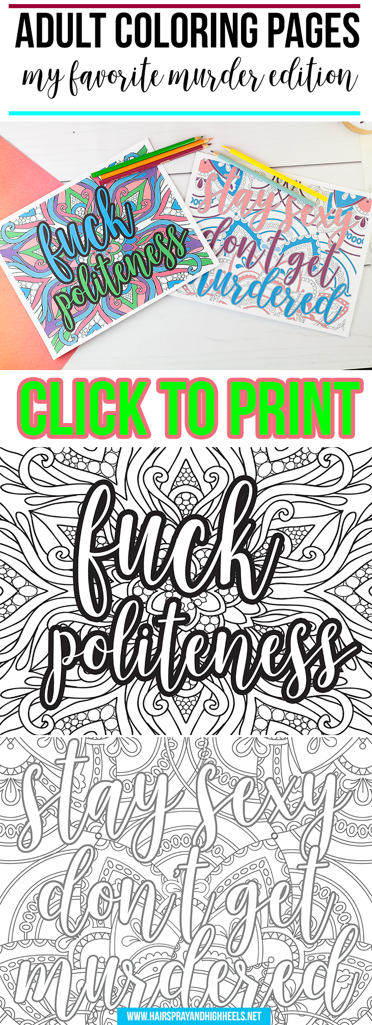 Adult Coloring Pages My Favorite Murder Edition