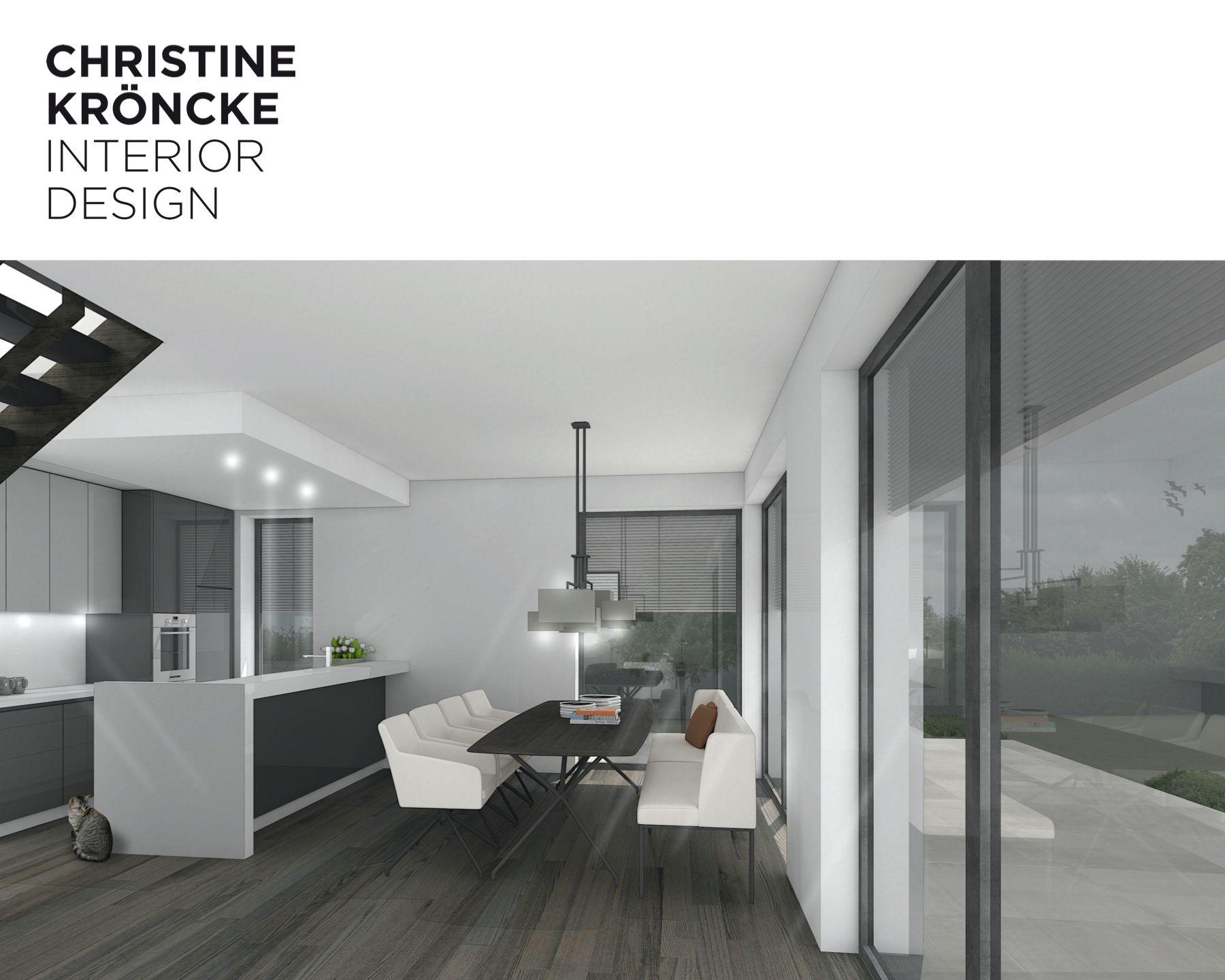 Open Plan Kitchen / Dining   Innenarchitektur, Offene küche, Modern