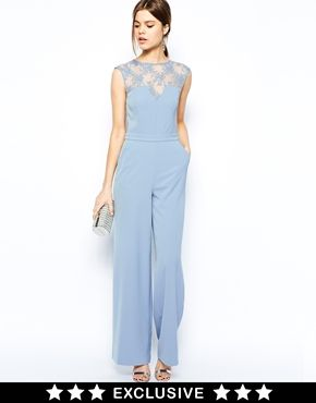 light blue elegant lace long jumpsuit overall pinterest jugendweihe kleider outfit ideen. Black Bedroom Furniture Sets. Home Design Ideas
