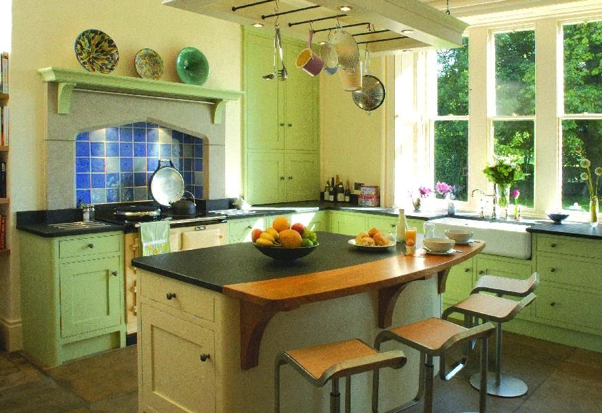 Best Painted Kitchen In Farrow Ball Cooking Apple Green 400 x 300