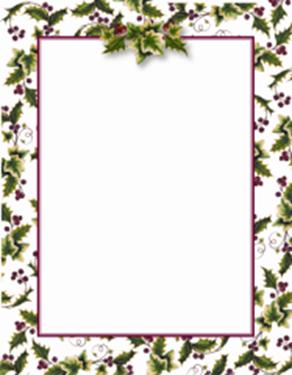 free printable christmas borders geographics holly ivy border