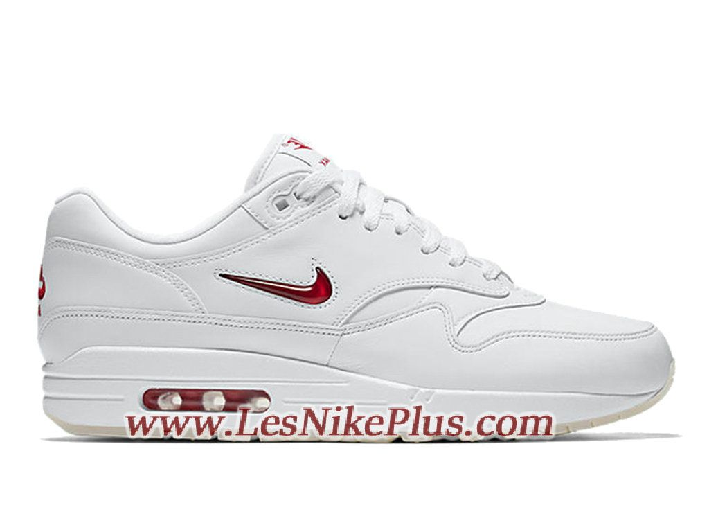 nike air max 1 blanche rouge